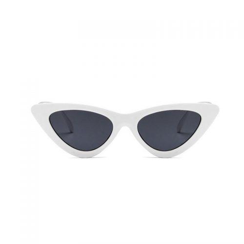 Vita cateye solglasögon 50 tal Retro