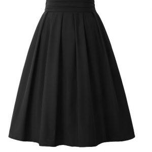svart kjol med hög midja