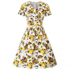 Gul klänning