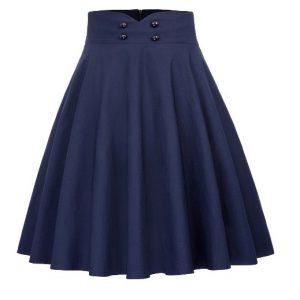 helklockad marinblå kjol