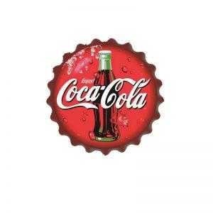 plåtskylt kapsyl coca cola flaska