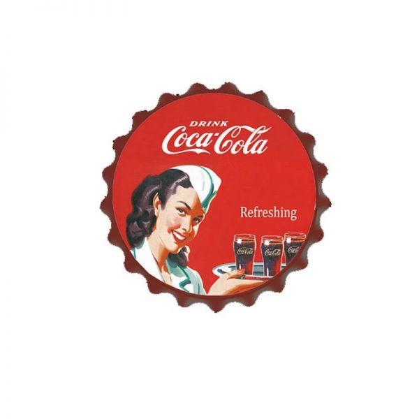 plåtskylt coca cola servitris