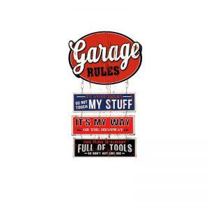 retro plåtskylt garage regler