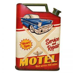 Plåtskylt motel