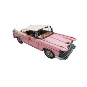 nostalgi bil i metall rosa