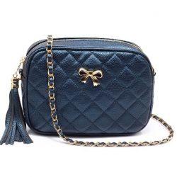marinblå handväska