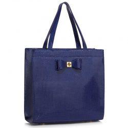 stor marinblå handväska