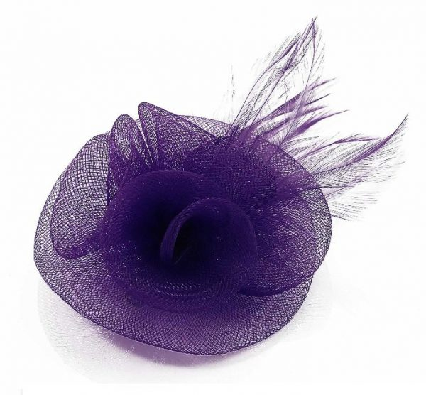 lila damhatt fascinator