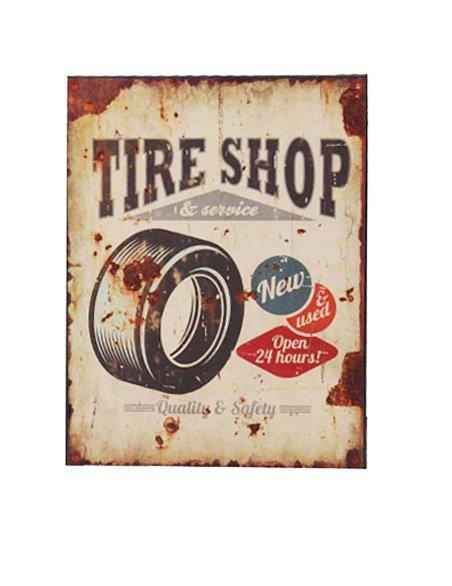 plåtskylt Tire shop