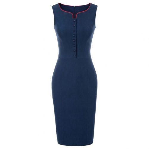 Marinblå pennklänning
