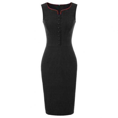 fodralklänning svart