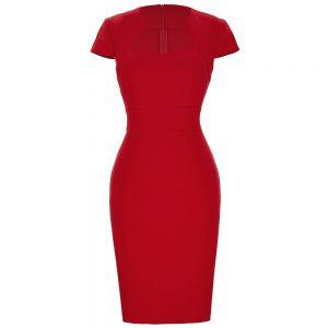 röd pennklänning