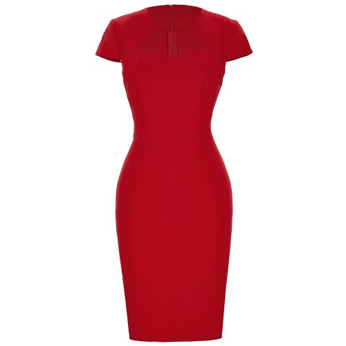 röd fodralklänning