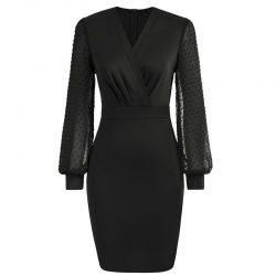 svart pennklänning