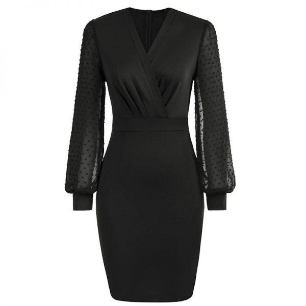 svart fodral klänning