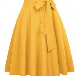 Gul helklockad kjol
