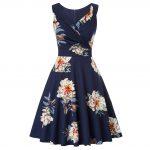 Marinblå klänning