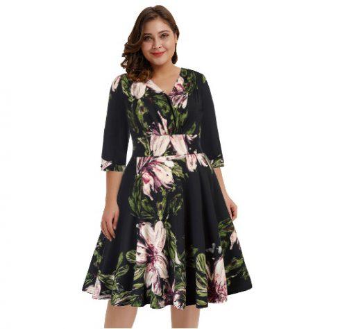 Svart klänning stor storlek