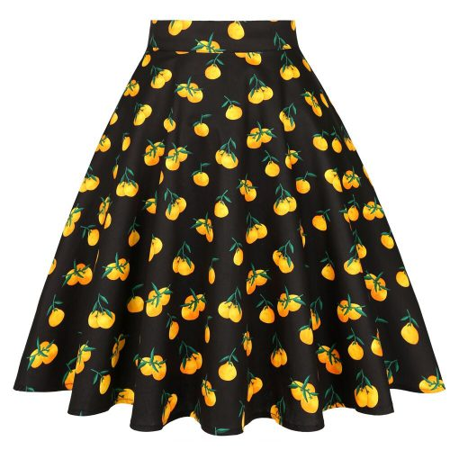 swingkjol svart med apelsinmönster
