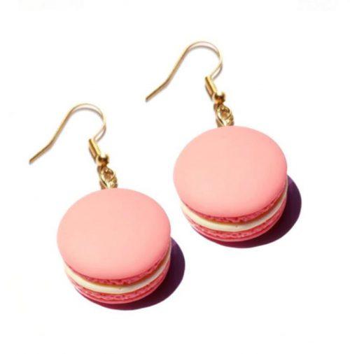 örhänge rosa macaron