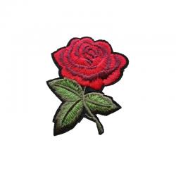 tygmärke liten röd ros