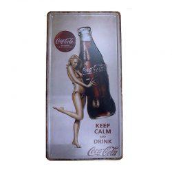 Plåtskylt cola dam
