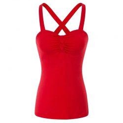 Glinder rött linne med axelband