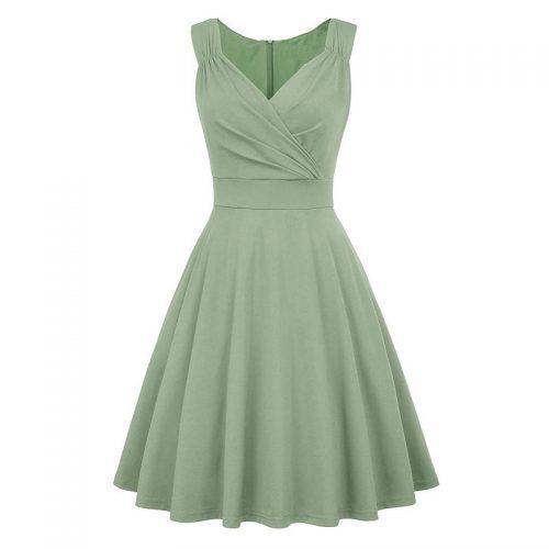 Glinder ljusgrön sommar klänning