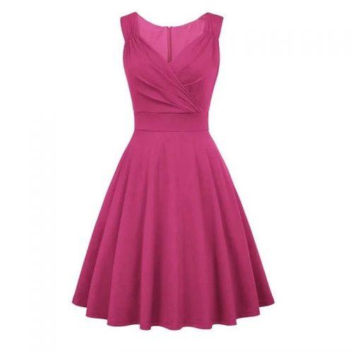 Mörkrosa klänning