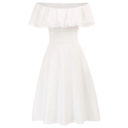 Vit singoalla klänning