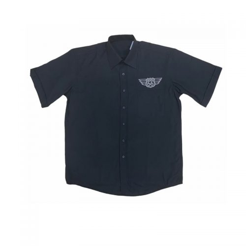 Glinder svart retro skjorta