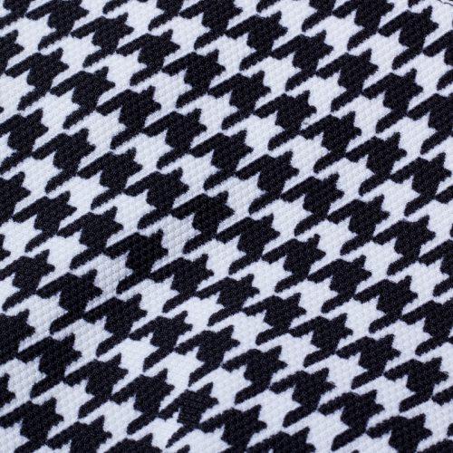 Pepitarutig fodralklänning 3/4 ärm retro