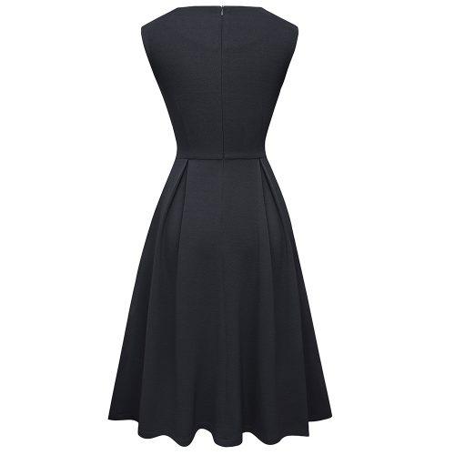 Svart a- linjeformad klänning retro bak