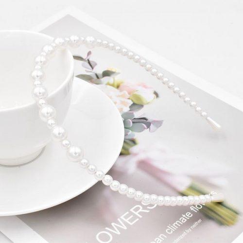 Diadem bröllop elegant vitt