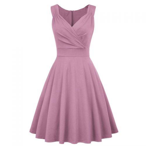 Enfärgad klänning syrenlila