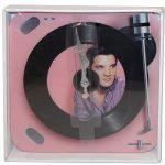Väggklocka i glas Elvis 50 tal retro