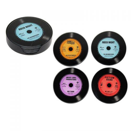 vinylskivor glasunderlägg