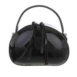 Handväska svart lack retro