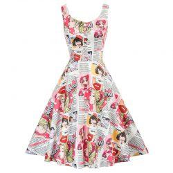 Swingklänning Candy med axelband 50 tal Retro