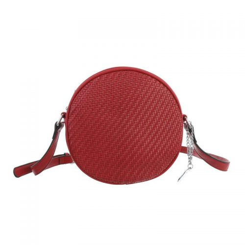 Axelremsväska röd rund retro