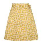 Strandkjol sarong gul med ficka retro