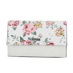 Handväska romantisk vit blommig retro