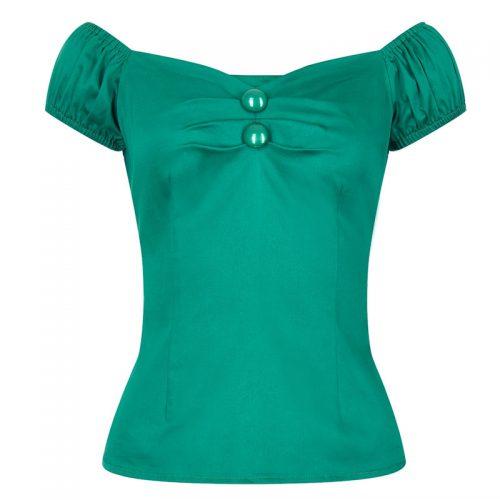 Grön singoalla topp Dolores Retro stor storlek