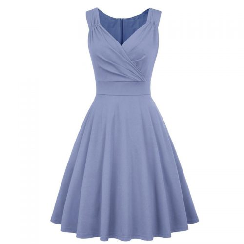 Jeansblå klänning 50 tal inspirerad