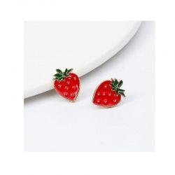 Örhängen jordgubbe retro rockabilly