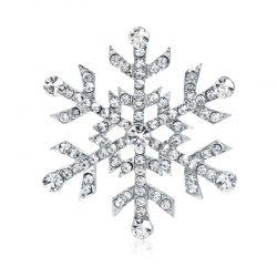 Strass brosch elegant snöflinga retro